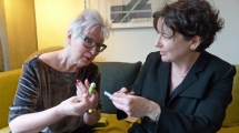 Jenny Eclair with Jane Garvey - discussing the joys of periods!